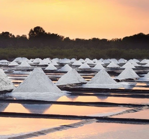 Sea Salt Evaporation Ponds