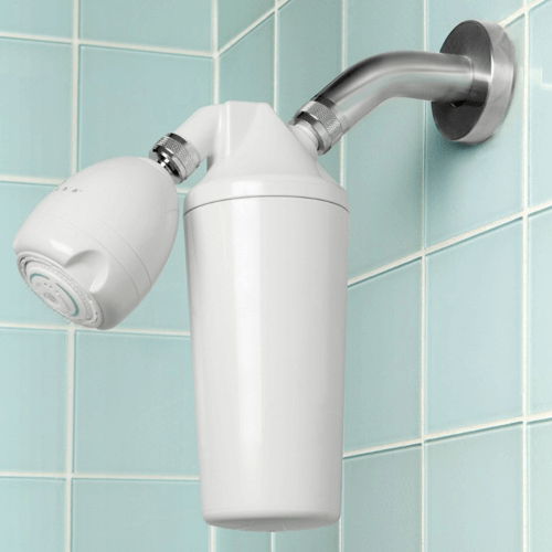 A Typical Shower Head Water Softener Unit...